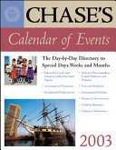 Chase s Calendar of Events 2003