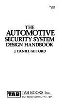 The Automotive Security System Design Handbook Book