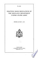 Drafting Room Regulations of the Ordnance Department  United States Army Book