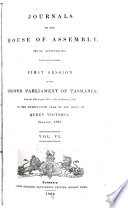 Journals of the House of Assembly