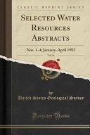 Selected Water Resources Abstracts  Vol  16