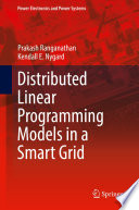 Distributed Linear Programming Models in a Smart Grid Book