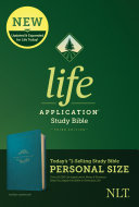 NLT Life Application Study Bible  Third Edition  Personal Size  Leatherlike  Teal Blue