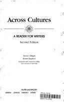 ACROSS CULTURES Book