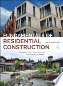 Fundamentals Of Residential Construction Book