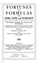 Fortunes in Formulas  for Home  Farm  and Workshop Book PDF