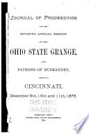 Journal Of Proceedings Of The Ohio State Grange