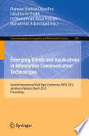Emerging Trends And Applications In Information Communication Technologies Book PDF
