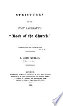 Strictures on the Poet Laureate's Book of the Church
