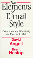 The Elements of E mail Style