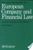 European Company and Financial Law