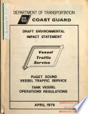 Puget Sound Vessel Traffic Service Tank Vessel Operation Regulations