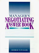 Manager s Negotiating Answer Book