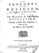 Some Thoughts Concerning Religion, Natural and Revealed