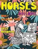 Adult Coloring Book Easy Mandala   Animal   Horses