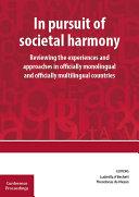 In pursuit of societal harmony
