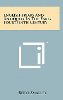 English Friars and Antiquity in the Early Fourteenth Century