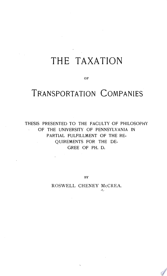 Taxation of Transportation Companies