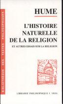 L'histoire naturelle de la religion