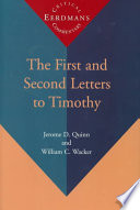 The First and Second Letters to Timothy Book PDF