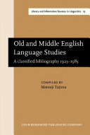 Old and Middle English Language Studies