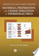 Materials  Preparation  and Characterization in Thermoelectrics