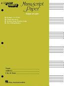 Manuscript Paper Wide Staff  E Z Play Today