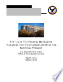 Status of the Federal Bureau of Investigation   s Implementation of the Sentinel Project Book