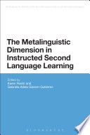The Metalinguistic Dimension In Instructed Second Language Learning