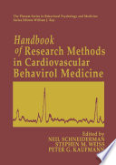 Handbook of Research Methods in Cardiovascular Behavioral Medicine Book