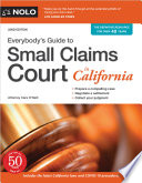 Everybody s Guide to Small Claims Court in California