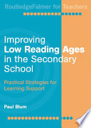 Improving Low Reading Ages in the Secondary School