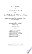 Reports of Cases Decided by the English Courts Book