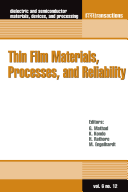 Thin Film Materials  Processes  and Reliability