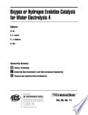 Oxygen or Hydrogen Evolution Catalysis for Water Electrolysis 4 Book