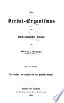 Der verbal-organismus der indischeuropäischen sprachen