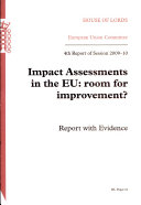 Impact assessments in the EU