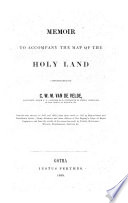 Memoir to accompagny the map of the Holy Land