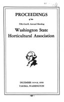 Proceedings  Annual Meeting   Washington State Horticultural Association