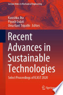 Recent Advances in Sustainable Technologies Book
