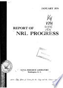 Report of NRL Progress