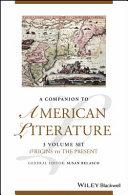 Pdf A Companion to American Literature