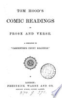 Tom Hood's Comic readings in prose and verse
