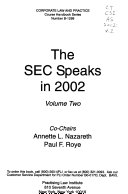 Pdf The SEC Speaks in ...