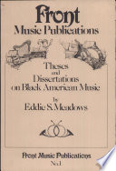 Theses And Dissertations On Black American Music