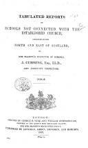Tabulated Reports on Schools Inspected     by Her Majesty s Inspector s  of Schools  Etc  1858 60