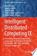 Intelligent Distributed Computing IX