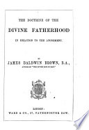 The Doctrine of the Divine Fatherhood in Relation to the Atonement Book