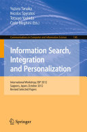 Pdf Information Search, Integration and Personalization Telecharger