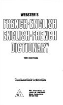 Webster s French English  English French Dictionary